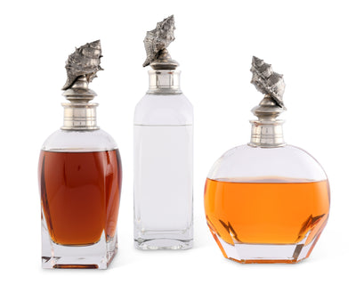 Shell Liquor Decanters - Wide  Vagabond House