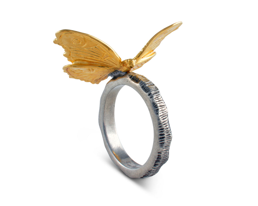Gold Butterfly Napkin Ring