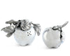 "Vagabond House Pewter Metal Apple Salt and Pepper Shaker Set 2.75"" T"