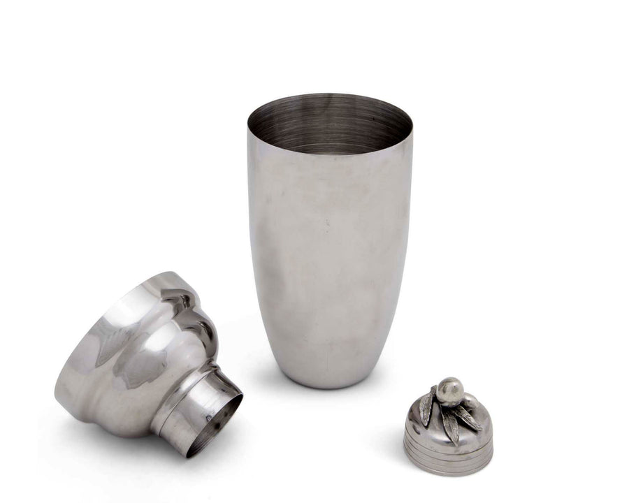 "Vagabond House Olive Stainless Cocktail Steel Shaker 9.5""T"