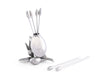 "Vagabond House Olive Cheese / Hor d'oeuvre  / Cocktail picks 4"" Tall (Set of 6) - Silver Color"