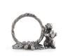 Pewter Squirrel Branch Napkin Ring