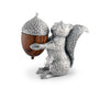 "Vagabond House Pewter Squirrel with Wood Acorn Salt and Pepper Shaker Set; 3"" Tall"