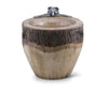 "Vagabond House Natural Log Ice / Wine / Champagne Bucket with Pewter Bear 12"" Wide x 13.5"" Tall"
