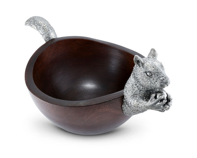 Squirrel Head and Tail Nut Bowl - Lg