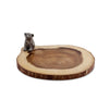 "Vagabond House Wood Bear Cub Bar / Cheese Board 10"" diameter 0.75"" T"