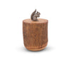 "Vagabond House Squirrel Wood Canister 9"" Tall"