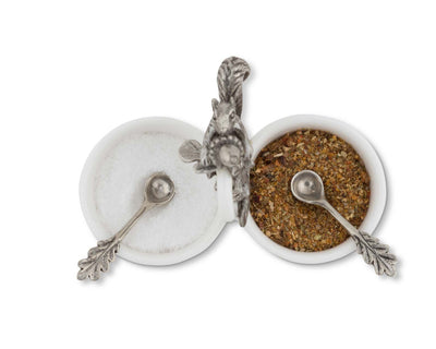 Squirrel Double Salt Cellar