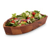 Boat Shape Acacia Wood Salad Bowl Large