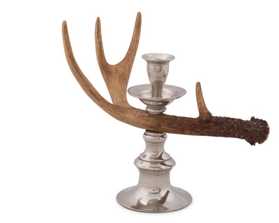 Antler - Resin Whitetail Single Light Candlestick