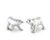 "Vagabond House Pewter Metal Nature / Outdoors / Arctic Polar Bear Salt and Pepper Shaker Set -  3"" Tall"