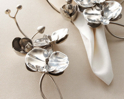 Pewter Orchid Napkin Ring