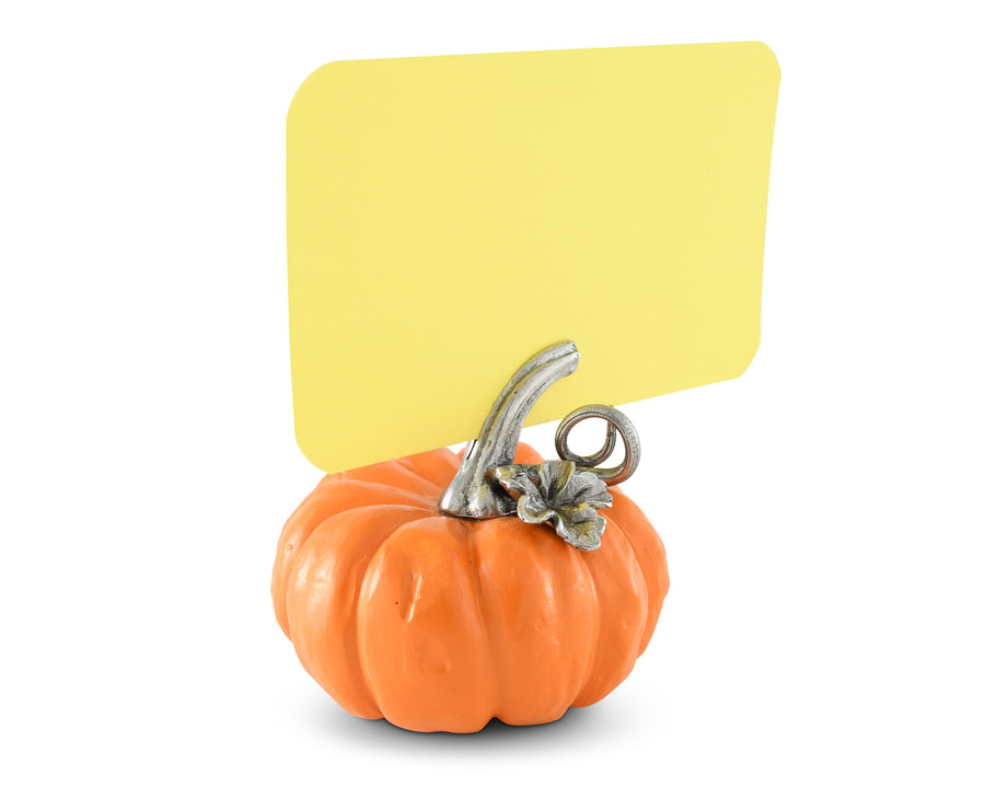 "Vagabond House Renin Pumpkin Place Card Holder / Cheese Markers 2"" Tall"