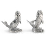 "Vagabond House Pewter Metal Fisherman / Angler Salmon Salt and Pepper Shaker Set - 2.5"" Tall"