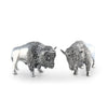 "Vagabond House Pewter Bison Salt & Pepper Set  3"" Tall - Western Tableware"