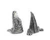 "Vagabond House Pewter Metal Alligator Salt and Pepper Shaker Set - 3"" Tall"