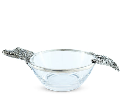 Alligator Glass Dip Bowl