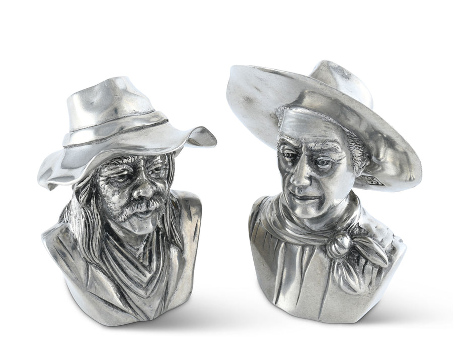 "Vagabond House The Bandit and the Ranger Salt and Pepper Set 3.75"" Tall"