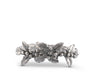 "Vagabond House Solid Pewter Metal Holly Christmas Napkin Ring 1 3/4"" Diameter (Sold as Single Ring)"