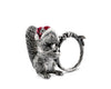"Vagabond House Solid Pewter Metal Santa Squirrel Napkin Ring 2"" Tall (Sold as Single Ring)"