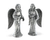 "Vagabond House Pewter Angel Salt and Pepper 4.5"" Tall"