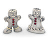 "Vagabond House Pewter Gingerbread Couple Salt and Pepper Shaker Set 3"" Tall"