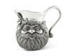 "Vagabond House Pewter Santa Christmas Creamer / Milk Pitcher for Coffee and Tea Holiday Decor 4"" Tall"