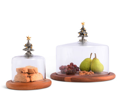 Covered Wood Cheese Board - Christmas Tree  Vagabond House