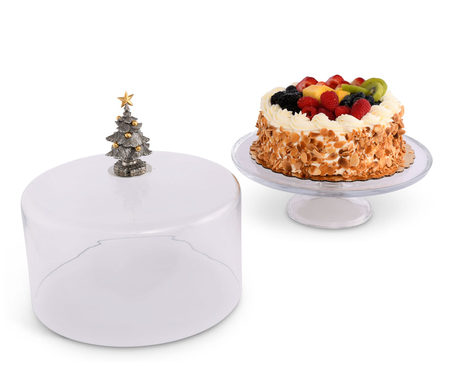 Glass Dome Stand - Tall - Christmas Tree  Vagabond House