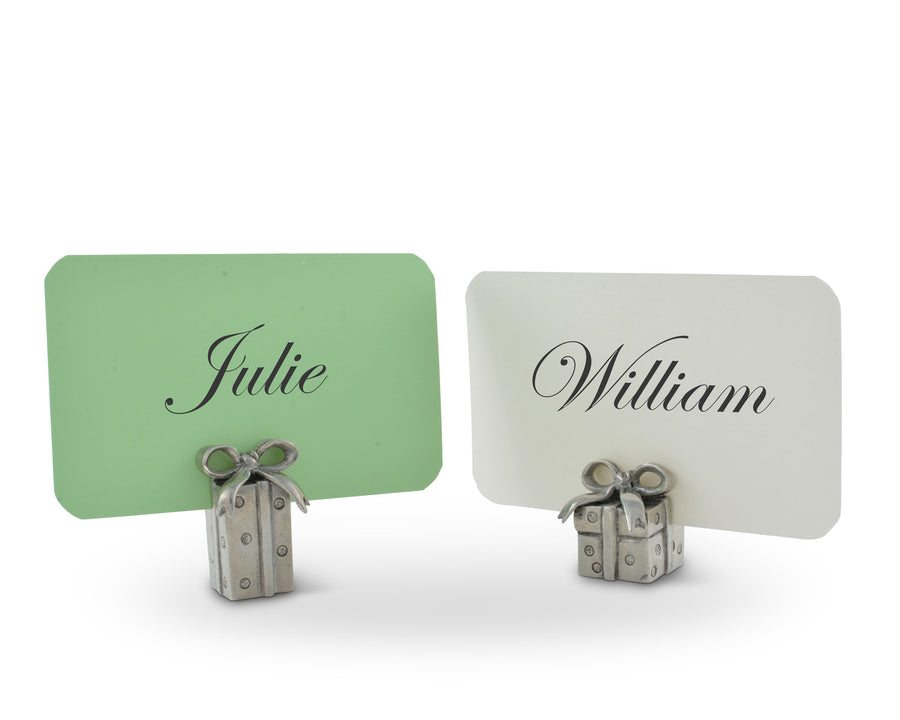 Christmas Package Place card Holder Pair