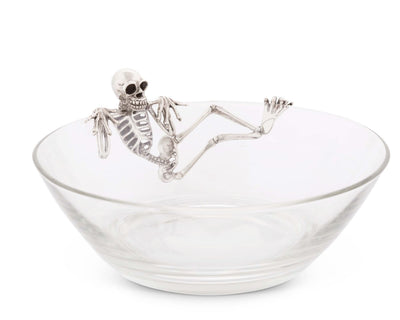 Vagabond House Skeleton Server / Candy Dish 10 Inches Diameter