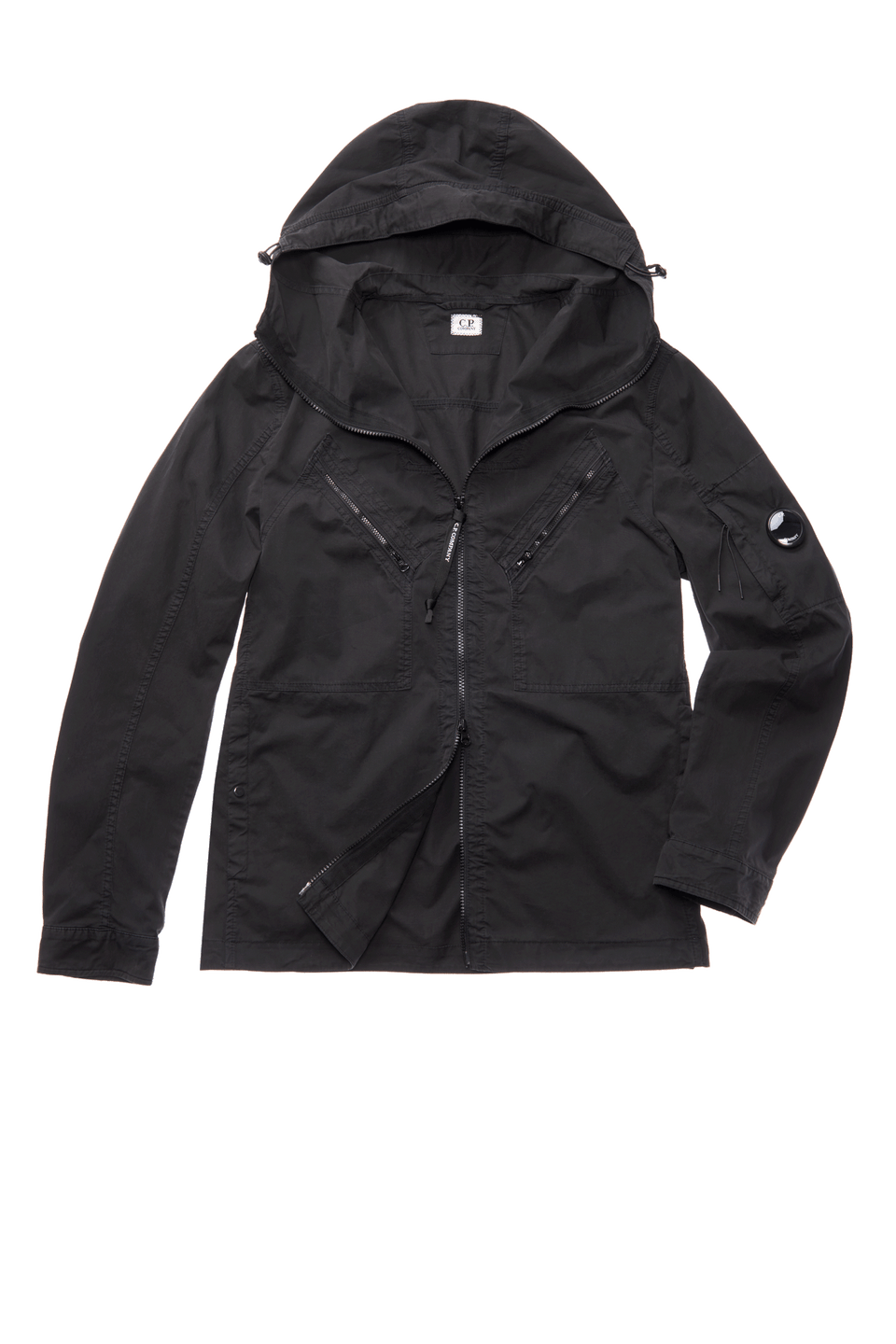 Utility Lens Hooded Overshirt