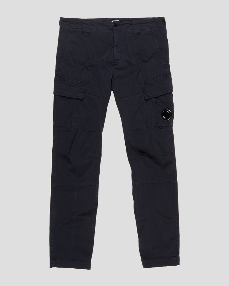 Garment Dyed Stretch Sateen Lens Pocket Pants
