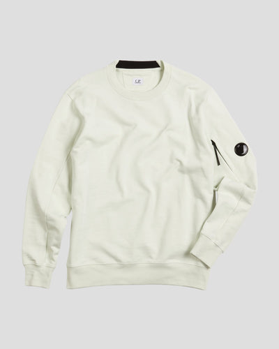 Diagonal Fleece Lens Crew Sweater
