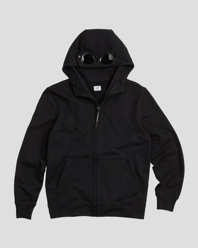 Diagonal Fleece Full-Zip Goggle Hood Sweater