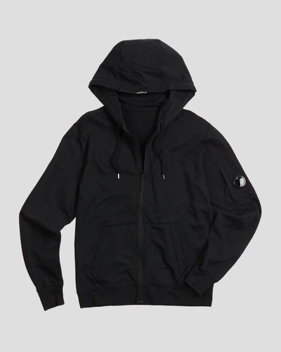 Garment Dyed Light Fleece Full-Zip Hooded Sweater