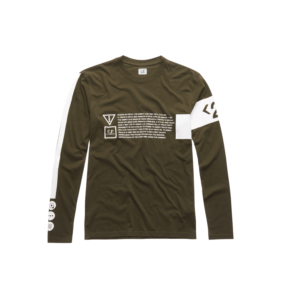 Jersey 30/1 LS Graphic Crew T-shirt