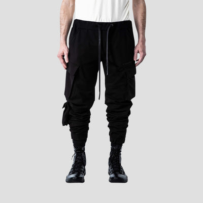 Detach slim double cargo trouser (Black)