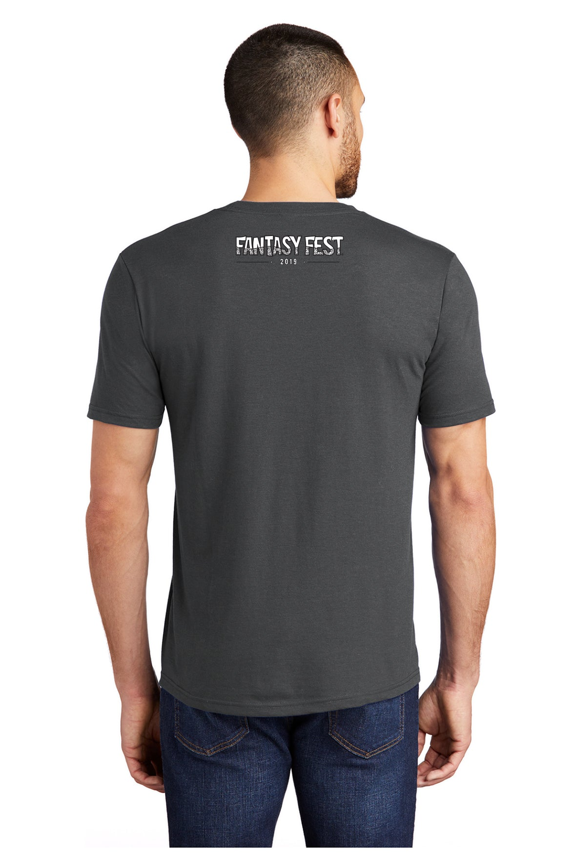2019 Official Fantasy Fest Rooster Tee - Charcoal