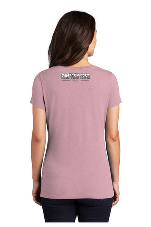 2019 Official Fantasy Fest Poster V-Neck - Lavender