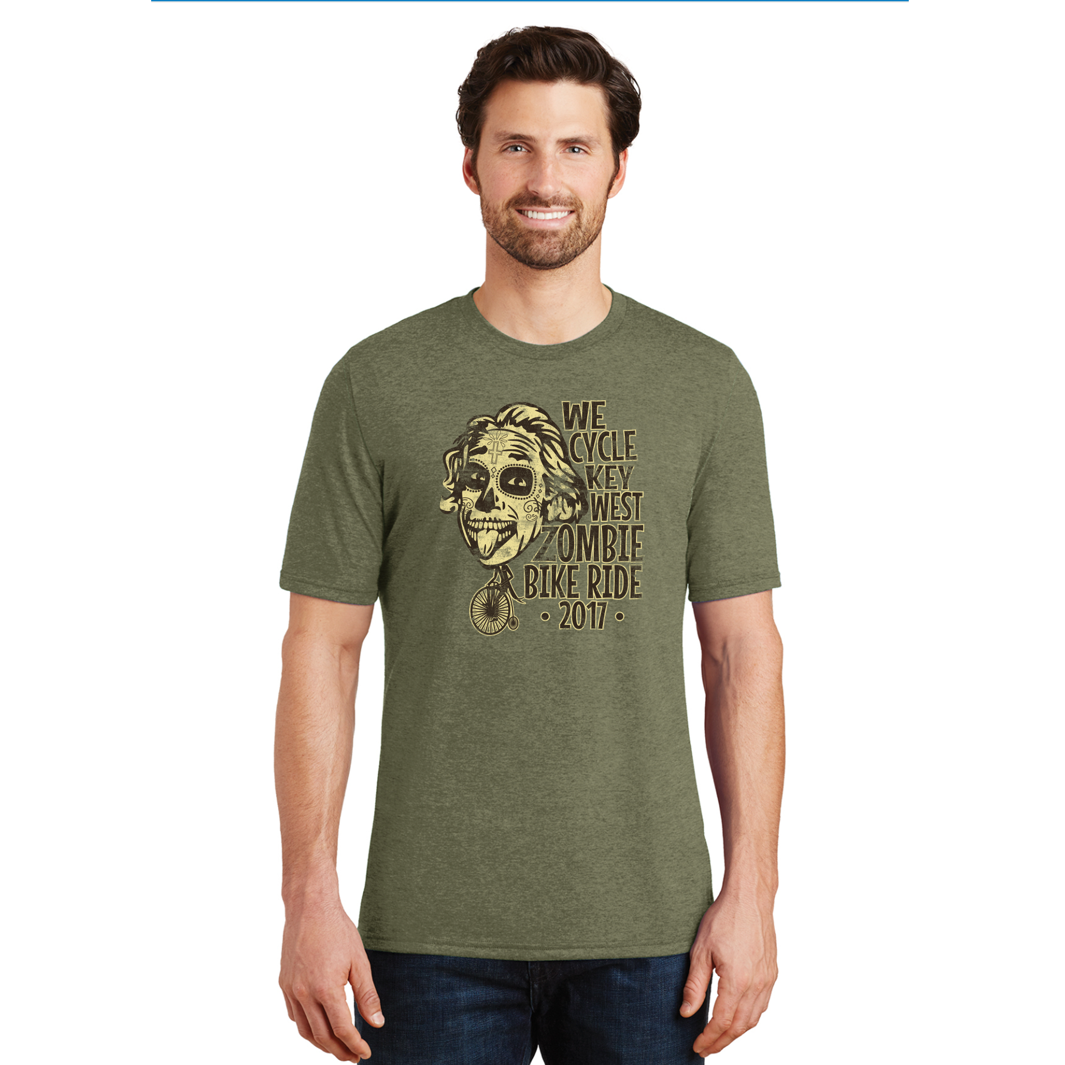 2017 Zombie Limited Edition Einstein Tee - Military Green Frost