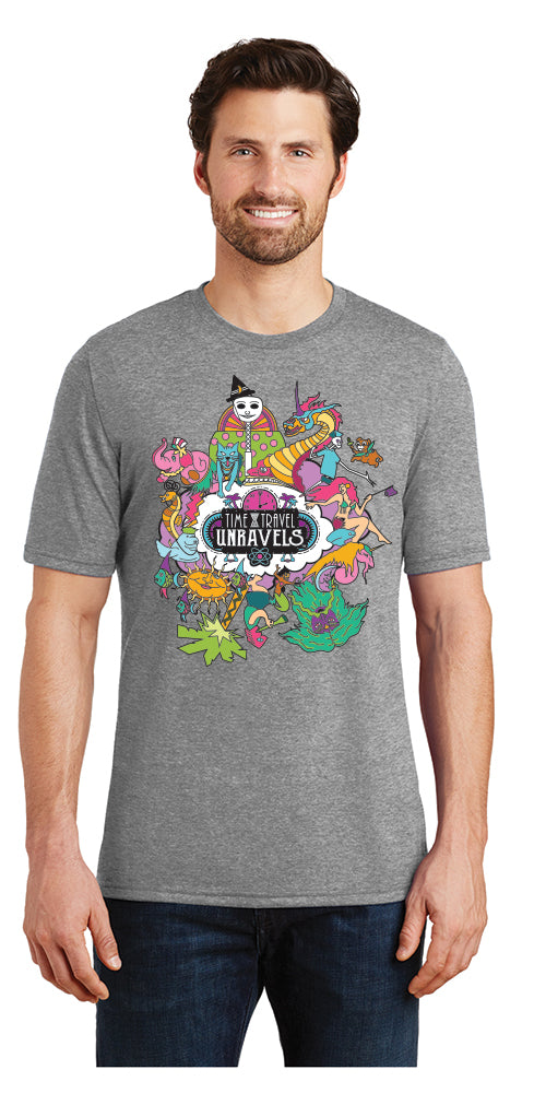 Mens Crew Tee - Time Travel Unravels® - Grey Frost