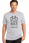 Crew Tee - Do It On A Bike - Grey