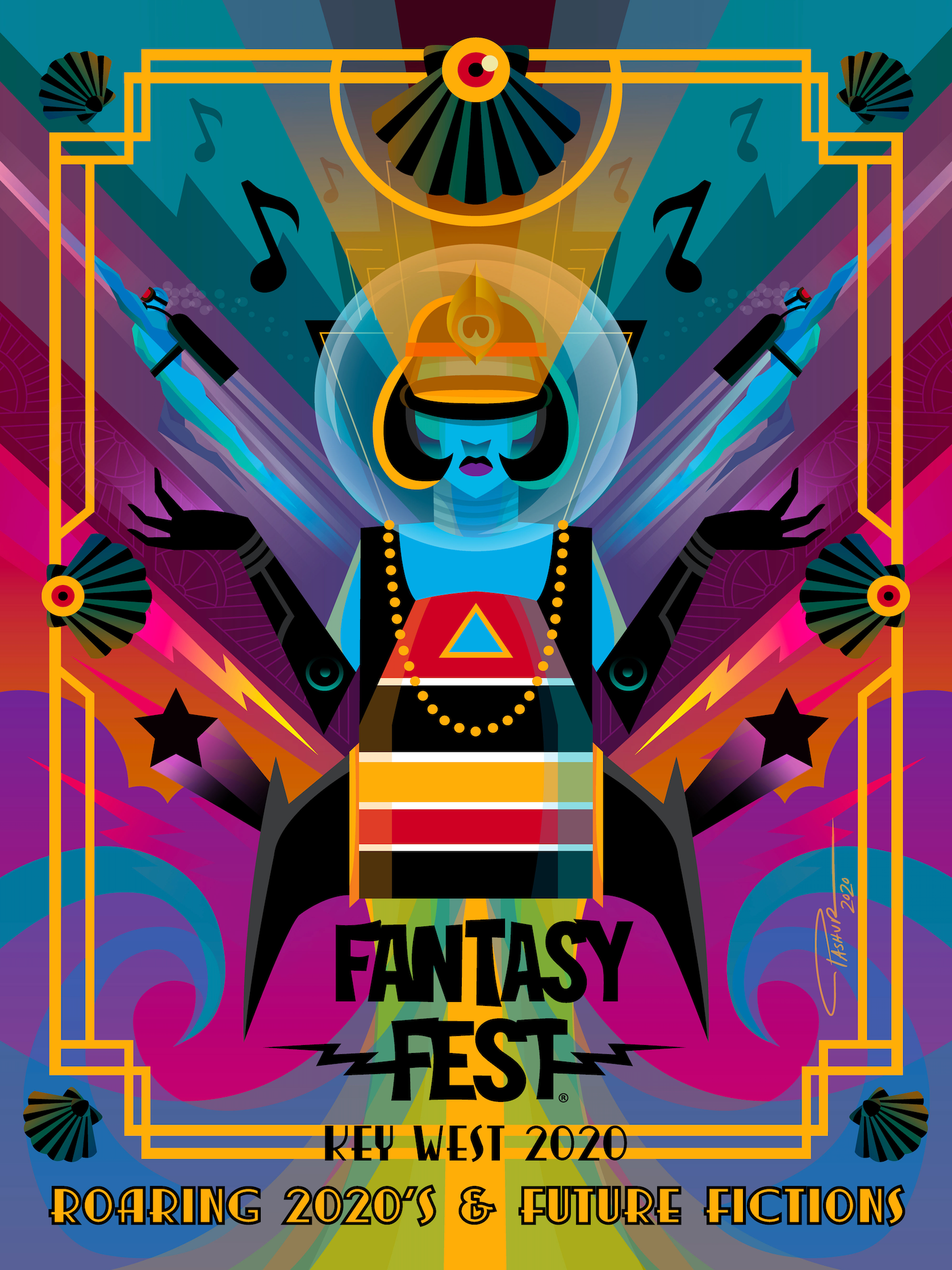 Official 2020 Fantasy Fest Poster Contest Winner by Pashur