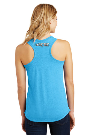 2018 Official Fantasy Fest Ladies Racerback Tank - Turquoise Frost