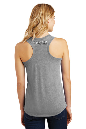 2018 Official Fantasy Fest Ladies Racerback Tank - Grey Frost