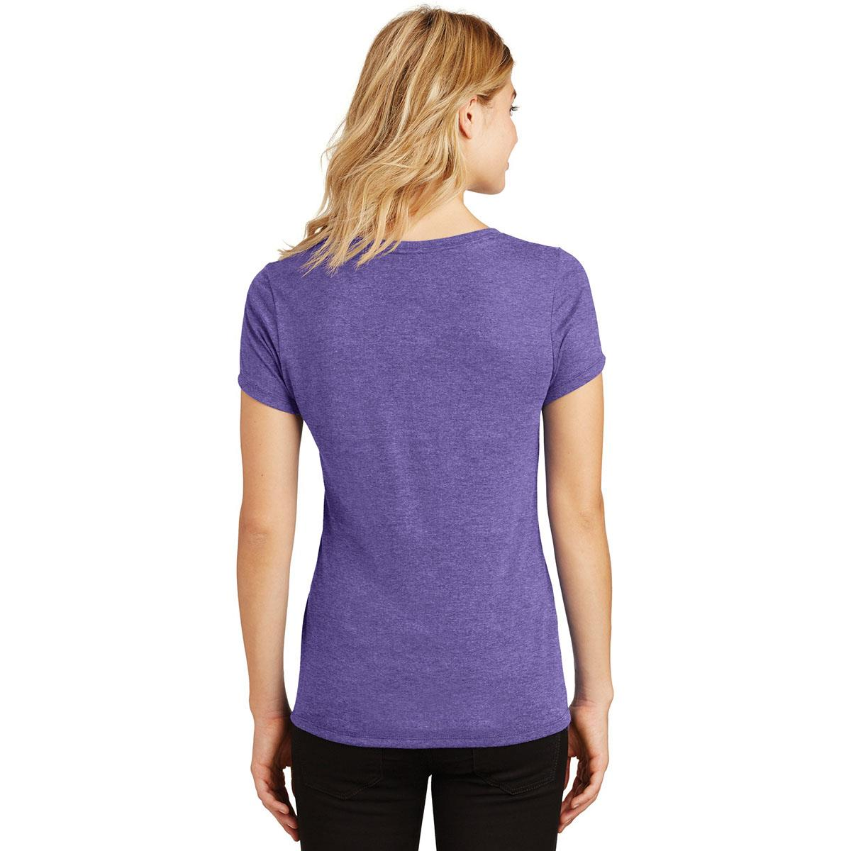 2017 Zombie Women's V-Neck Tee - Purple Frost