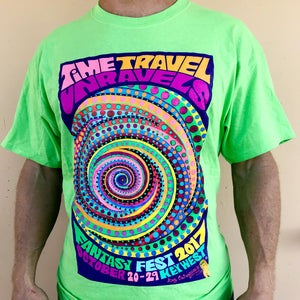 Crew Tee - Masquerade March - Neon Green
