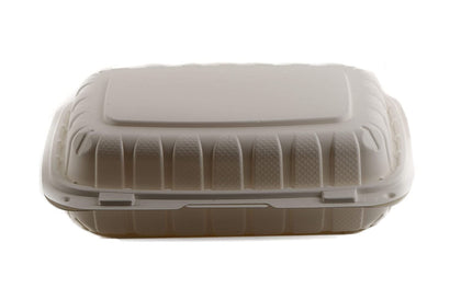 [200 Pack] 9x6 Eco Friendly Clam Shell Take Out Food Container