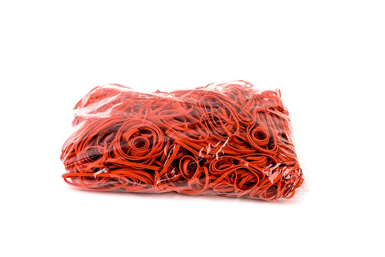 Large Rubber Bands RED Size #62 (2-1/2 x 1/4 inches) 1800pcs (1 Pound per Box)